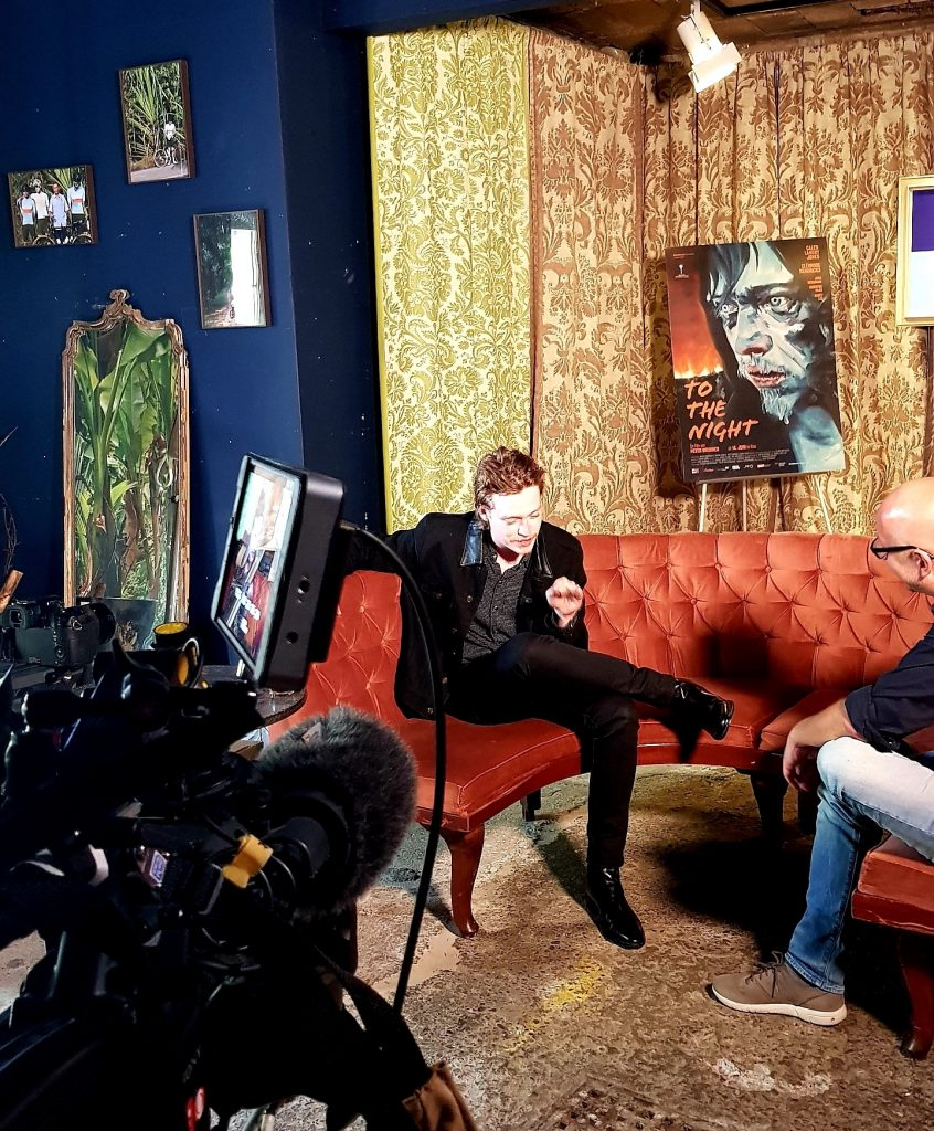 ORF-Interview am Pressetag mit Hollywood-Shootingstar Caleb Landry Jones in Wien 2019.